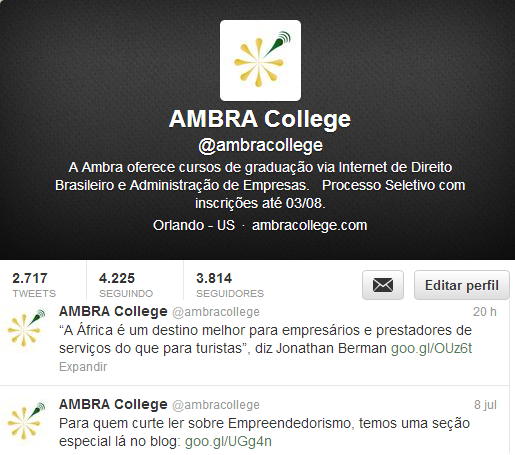 twitter ambra college