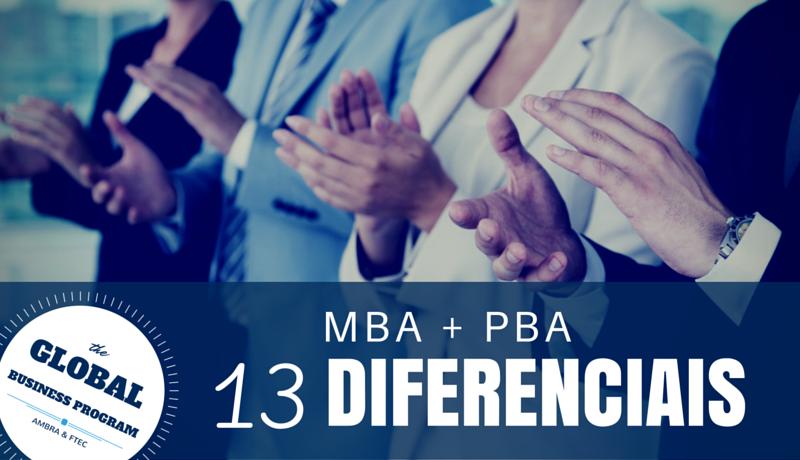 MBA + PBA - 13 Diferenciais