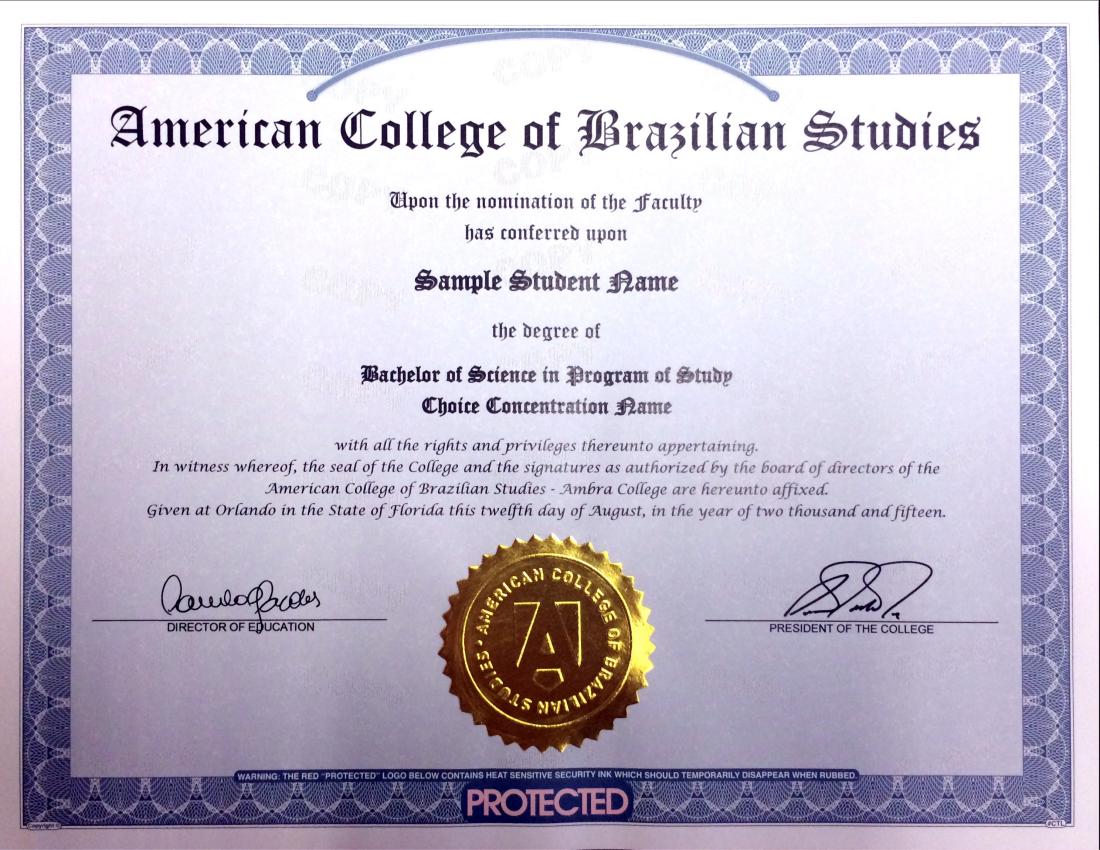 O Diploma Do Curso De Direito E De Administração
