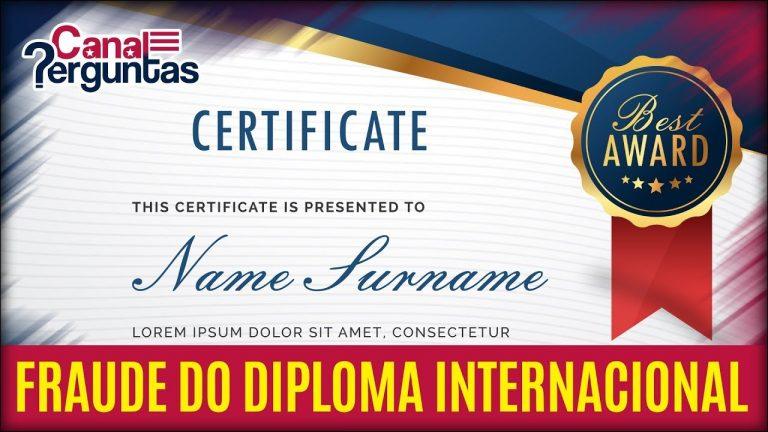 O Golpe do Diploma Internacional