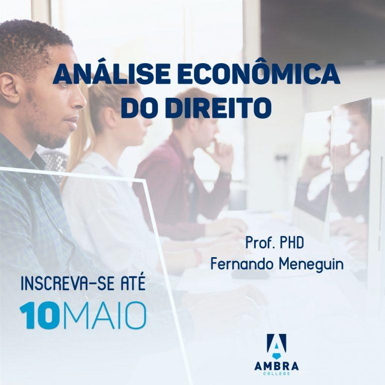 Aluno Especial de Mestrado em Análise Econômica do Direito – Maio de 2019