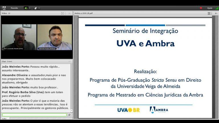 Seminário Direito e Desenvolvimento do Convênio Mestrado em Direito da Universidade Veiga de Almeida e Ambra College