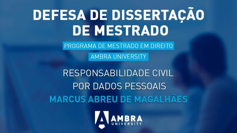Defesa de Dissertação de Mestrado na Ambra University: Marcus Abreu de Magalhães